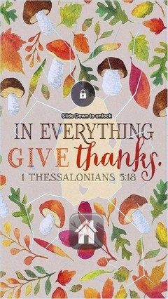 In Everything Give Thanks Lock Screen