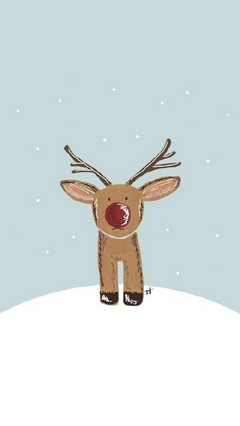 Cute Reindeer Lock Screen