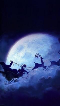 Flying Santa Lock Screen