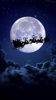 Full Moon Santa Lock Screen