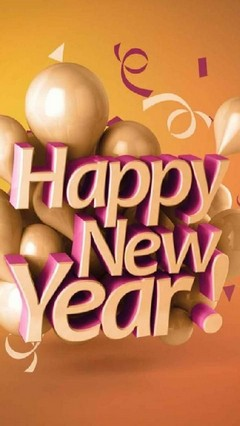 Gold Happy New Year Lock Screen