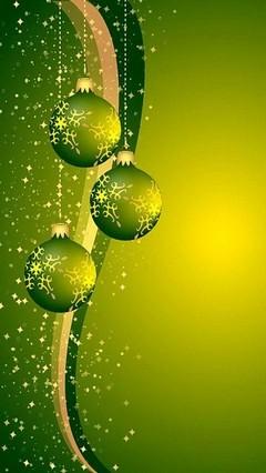 Green Ornaments Lock Screen