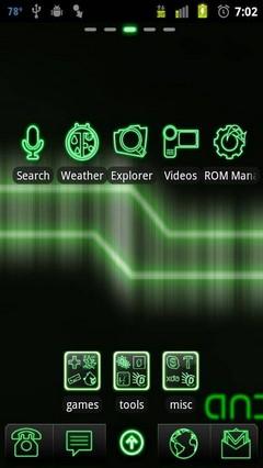 green neon go launcher