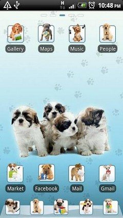 Puppy Go Launcher EX Theme