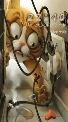 Funny Cat Go Locker
