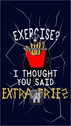Extra Fries Lock Screen