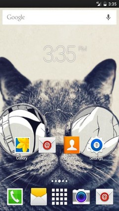 Cat fun glasses ADW Launcher Theme