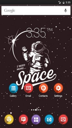 I need more space Apex Launcher Theme