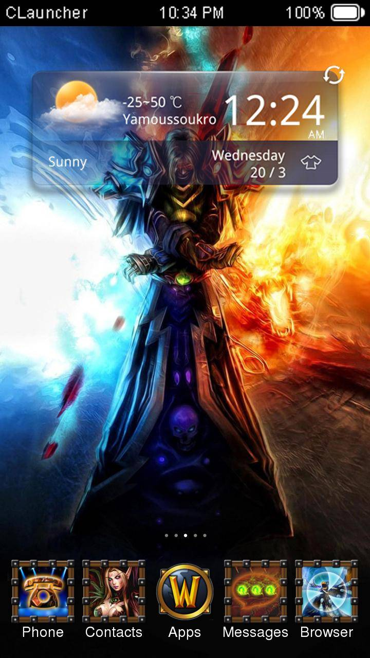 World of Warcraft CLauncher Theme