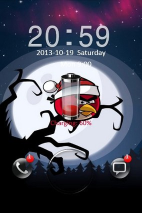 Angry Bird Xmas Go Locker