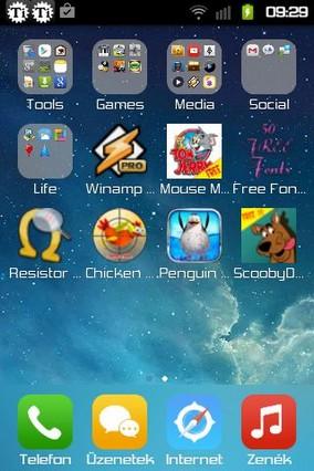 iOS 8 Launcher HD Retina Theme