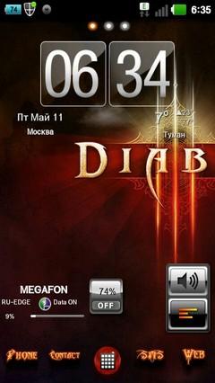Diablo GO Launcher EX Theme 1.0