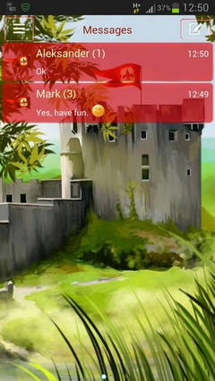GO SMS Theme Castle