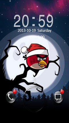 Angry Bird Xmas Go Locker
