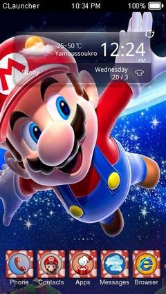 SuperMario CLauncher Theme