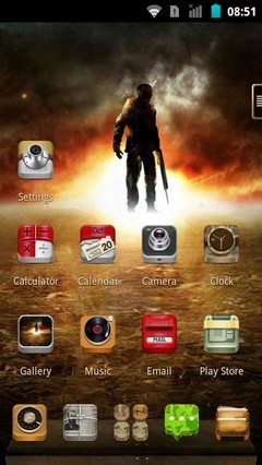 Next Launcher Theme Soldier