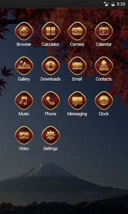 Mount fuji autumn Apex Launcher Theme