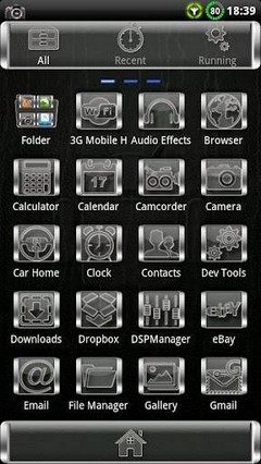 Glass GO Launcher EX Theme 1.8