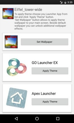 Eiffel tower wide GO Launcher Theme
