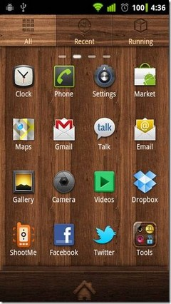GO Launcher EX Theme wood