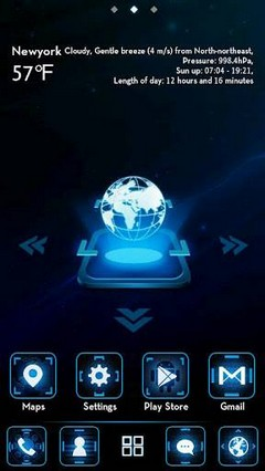 Space GO LauncherEX Theme v1.0