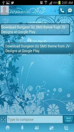 GO SMS Turquoise Theme