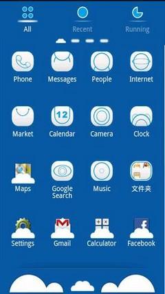 go launcher Cloud theme