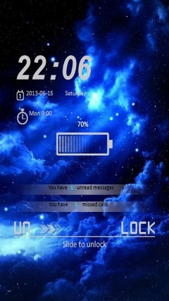 Blue Night Locker