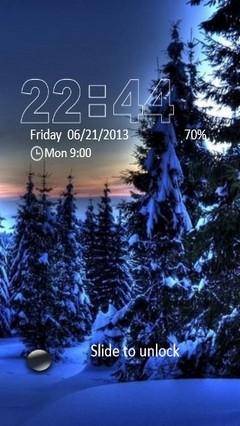 Snowy Blue Forest Locker