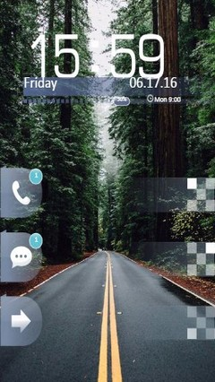 Green Forest Road Go Locker Theme