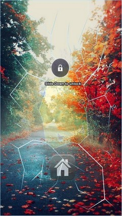 Autumn Road Lock Screen