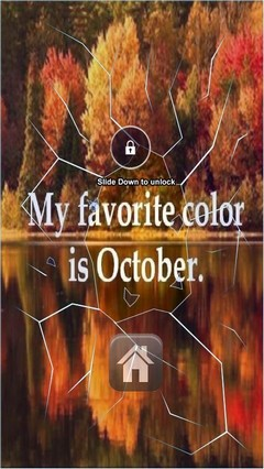 Color Of October Lock Screen