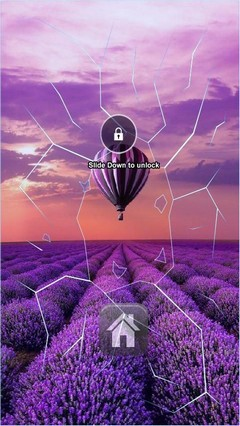 Purple Field Balloon Ride Lock Screen