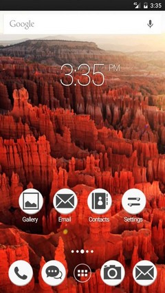 Bryce canyon rocks ADW Launcher Theme