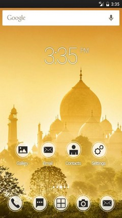Golden Taj Mahal ADW Launcher Theme