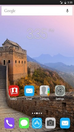 Great wall of china Apex Launcher Theme