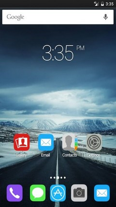 Icelands ring road Apex Launcher Theme