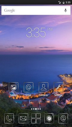 Monaco purple clouds Apex Launcher Theme