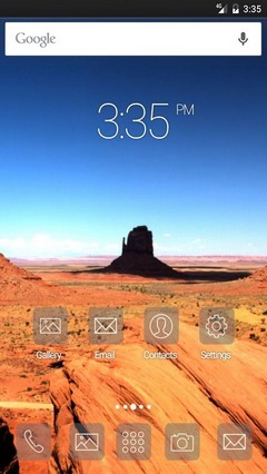 Monument valley wide ADW Launcher Theme