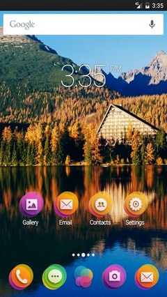 Cyan color view Nova Launcher Theme