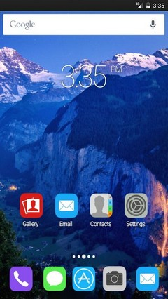 Deep valley switzerland ADW Launcher Theme