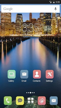 Manhattan cityscape Apex Launcher Theme