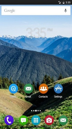 Field mountains summer Apex Launcher Theme