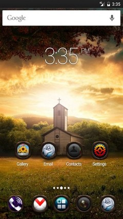 Photoshop nature landscape Nova Launcher Theme