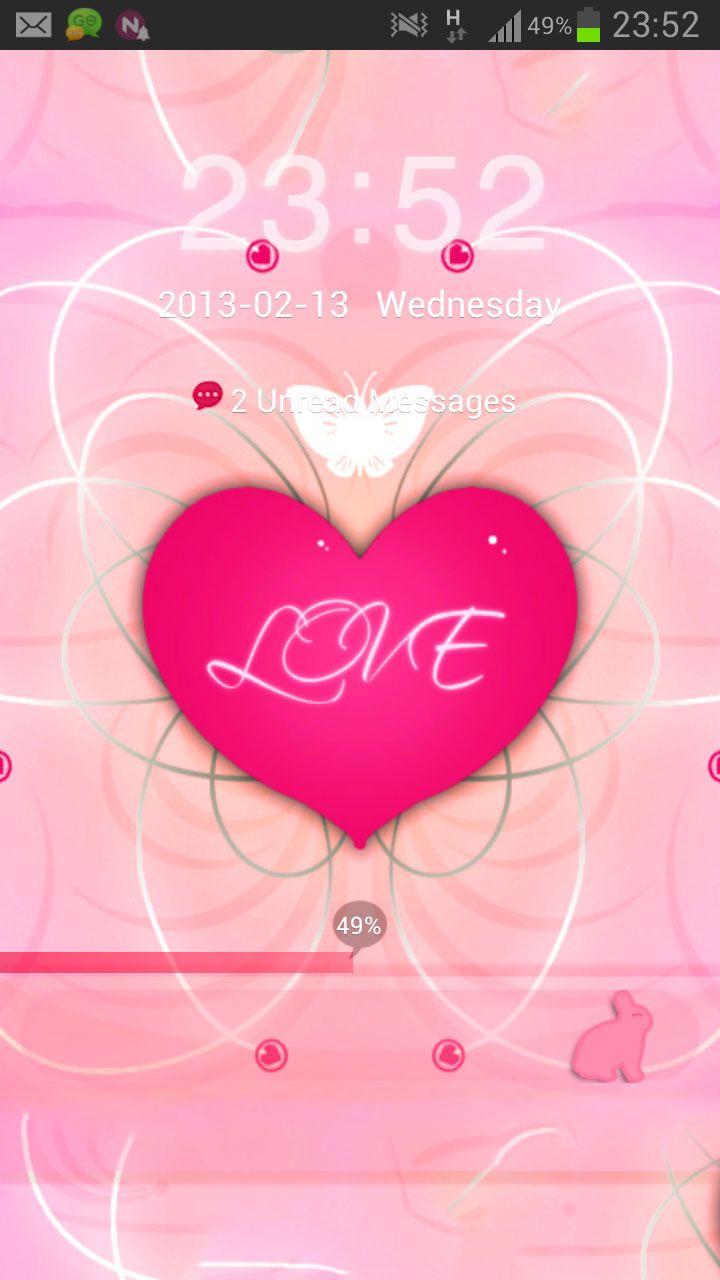 GO Locker Theme Pink Heart