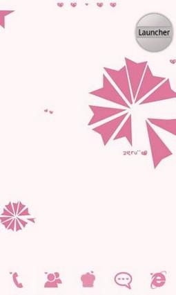 Pinklove go launcher theme