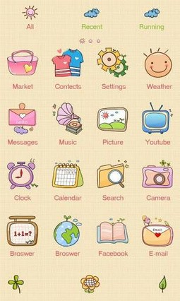 With GO Launcher Theme