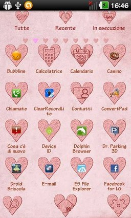 First Love Go Launcher Theme