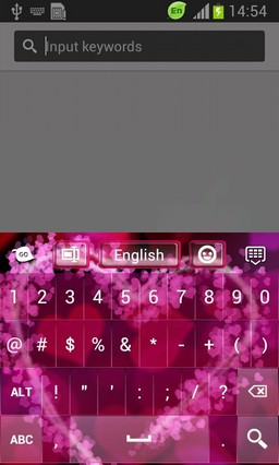 Love Abstract Keyboard