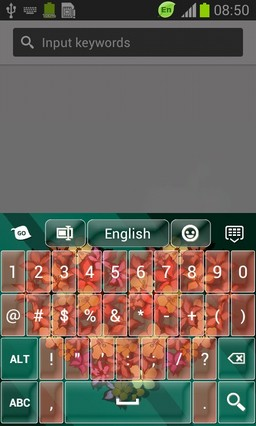 Floral Heart Keyboard